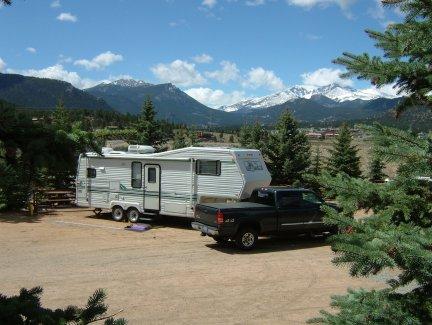 Campsite in Estes Park